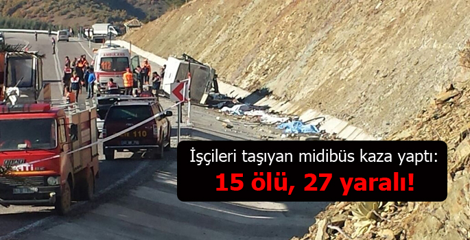 Isparta'da feci kaza: 15 ölü, 27 yaralı