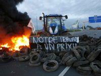 Fransız çiftçiler Almanya sınırını trafiğe kapattı