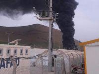 Çadır kentte yangın çıktı