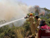 Adrasan'daki yangına müdahale ediliyor