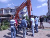 Antalya'da doğalgaz borusu patladı