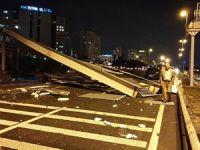 İstanbul'da yine üst geçit yıkıldı