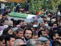 Ölen 14 işçi için cenaze töreni düzenlendi