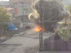 Yola tuzaklanan bomba böyle patlatıldı