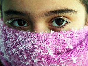 Doğuda film karesi gibi kış manzaraları