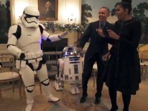 Obama'dan çılgın Star Wars Dansı