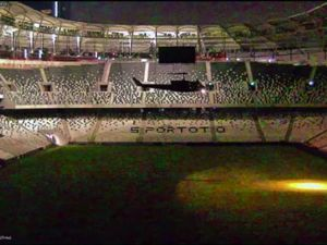 Helikopter Vodafone Arena'ya böyle inmiş