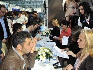 Antalya'da İstihdam Fuar'ına yoğun ilgi