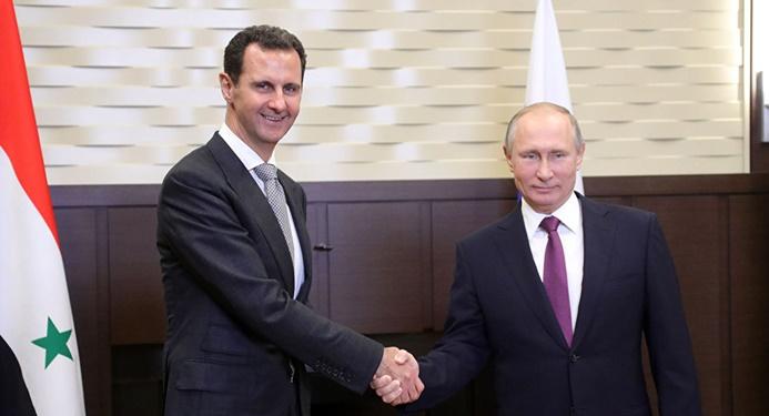 Putin Esad ile görüştü